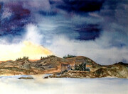 """Clearing Storm over Donan Castle"""