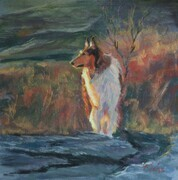 """COLLIE IN THE COULEE"""