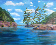 """Dry Pine Bay, French River"""