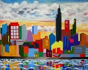"Marion Sloan ""City Skyline""  Sold"