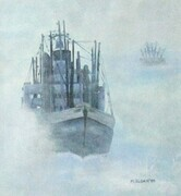 """Fishing in the Fog""  Sold"