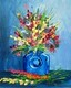 """Flowers in Blue Vase"""