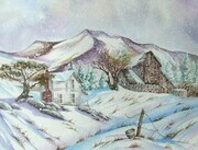 """Winter Farm Scene""  Sold"