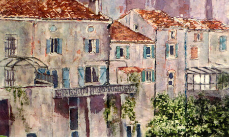 """Montolieu: Buildings from the Back""  Sold"